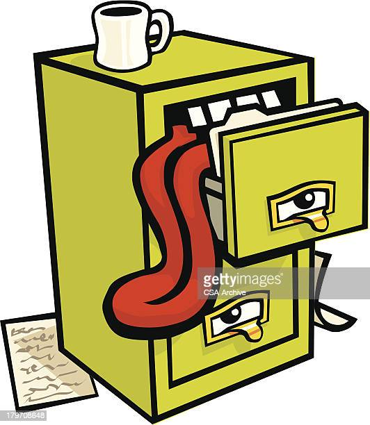 File Cabinet with Tongue Hanging Out