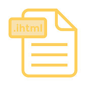 file colour line icon