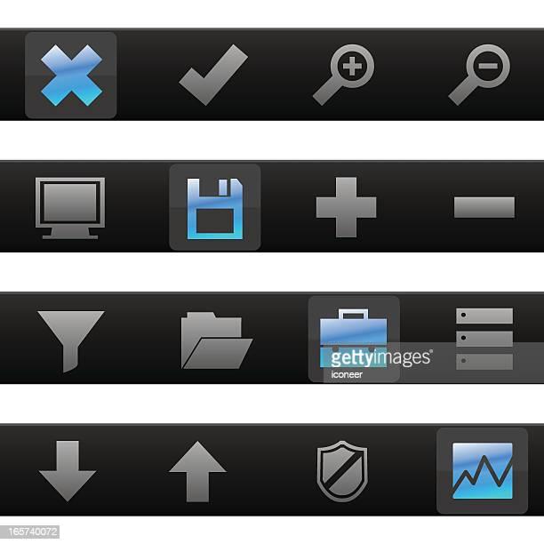 ファイル&データ処理ツールのアイコン - ウェブ2.0点のイラスト素材/クリップアート素材/マンガ素材/アイコン素材