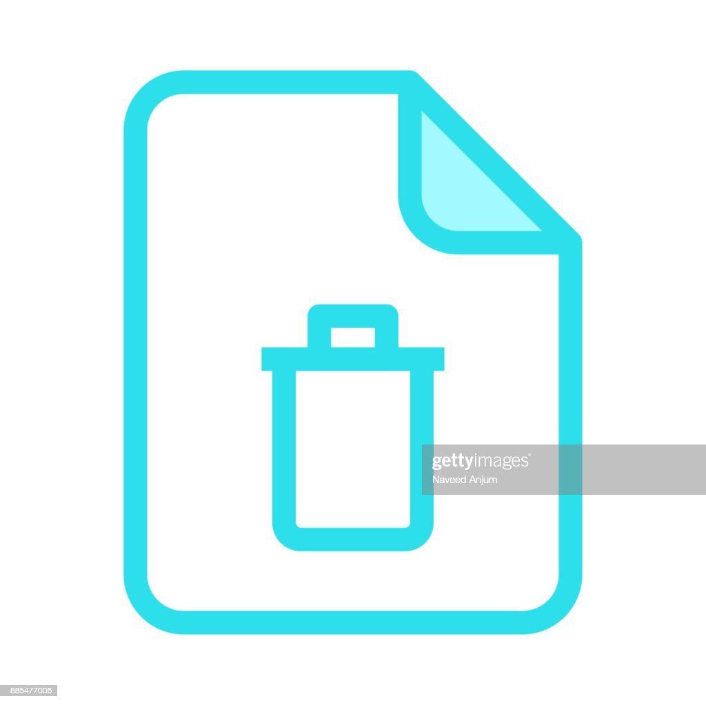 file delete colour line vector icon