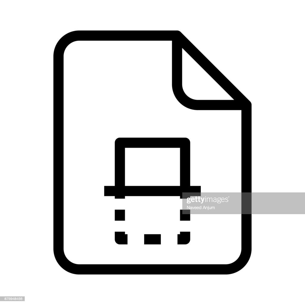 file delete Thin Line Vector Icon