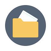 file folder flat vector icon