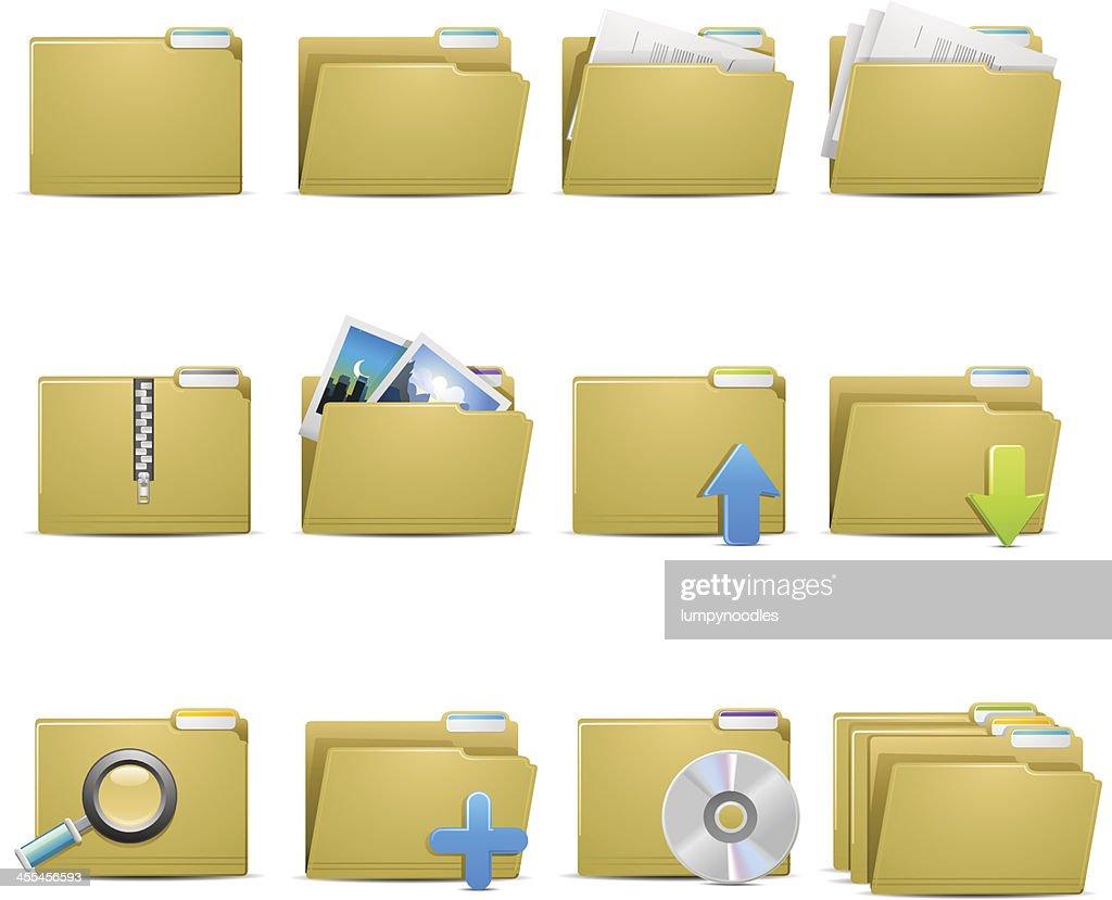 File Folder Icons : stock illustration