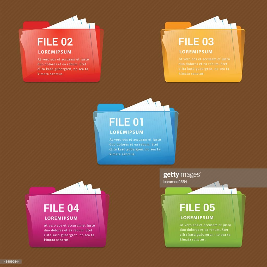 File folder infographic vector.