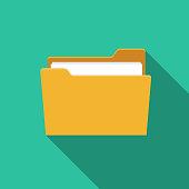 File Folder Office Supply Icon