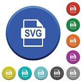 SVG file format beveled buttons