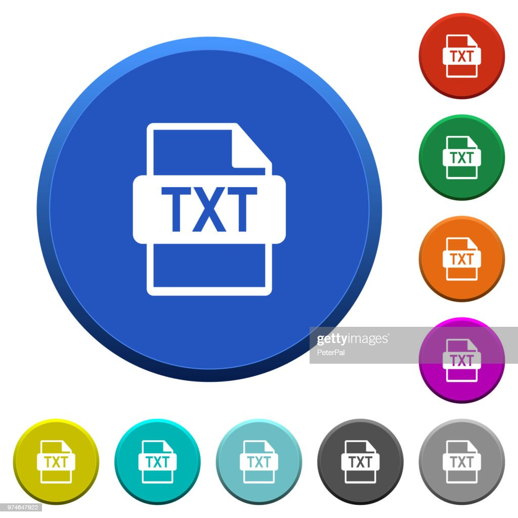 TXT file format beveled buttons