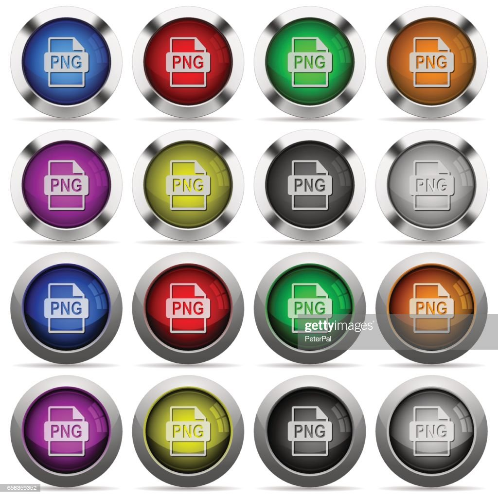 PNG file format button set