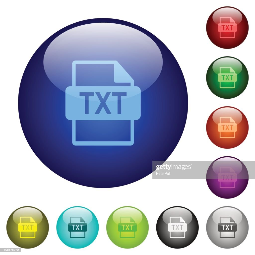 TXT file format color glass buttons