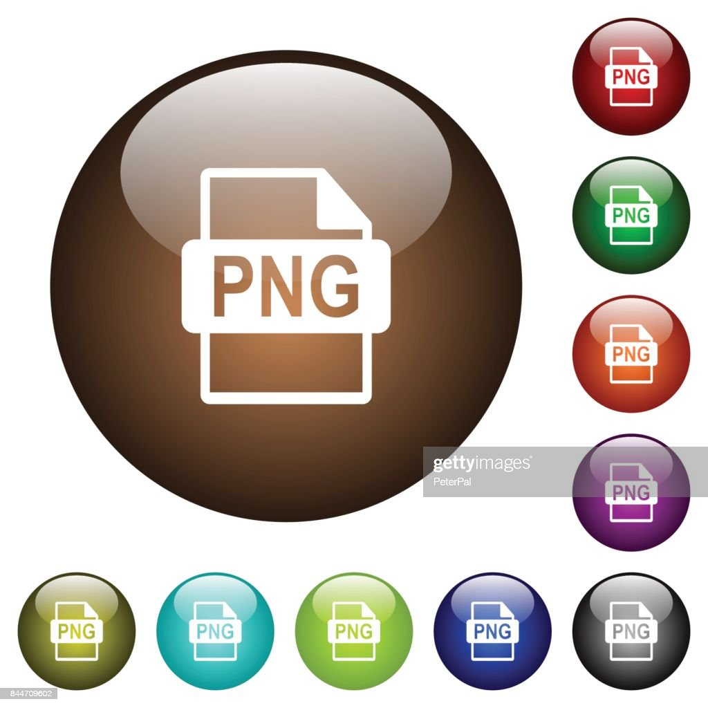 PNG file format color glass buttons