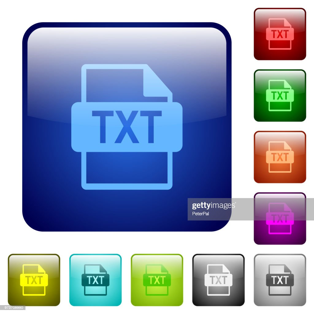 TXT file format color square buttons