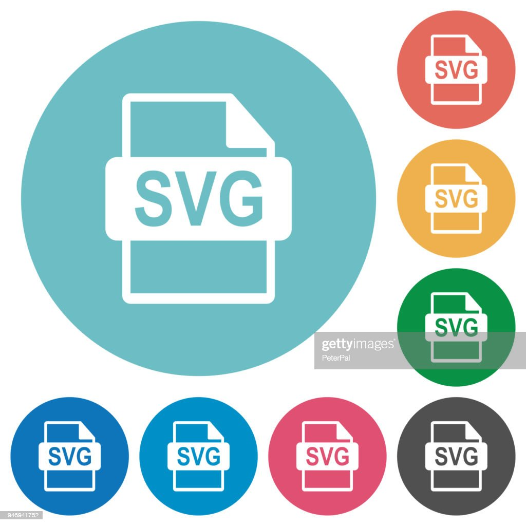 SVG file format flat round icons