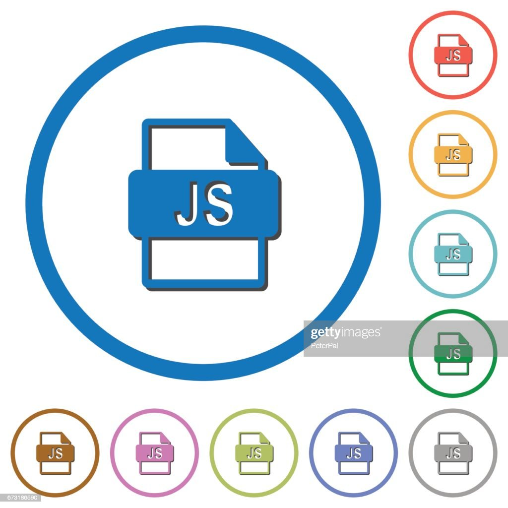 JS file format icons with shadows and outlines