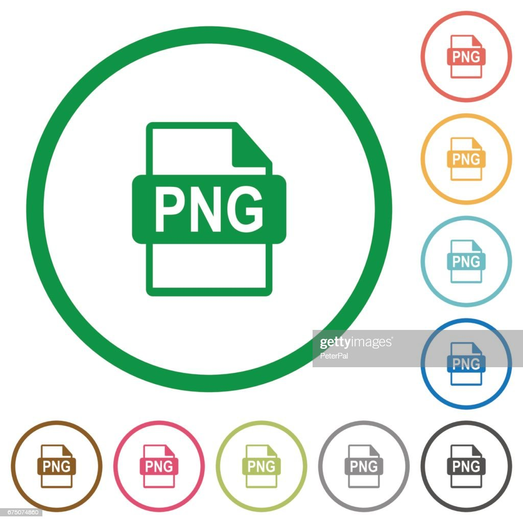 PNG file format outlined flat icons