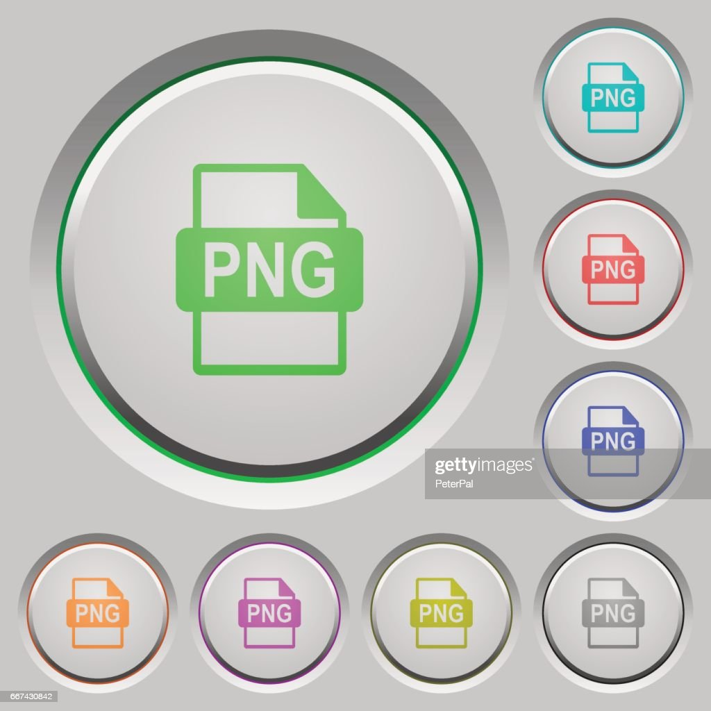 PNG file format push buttons