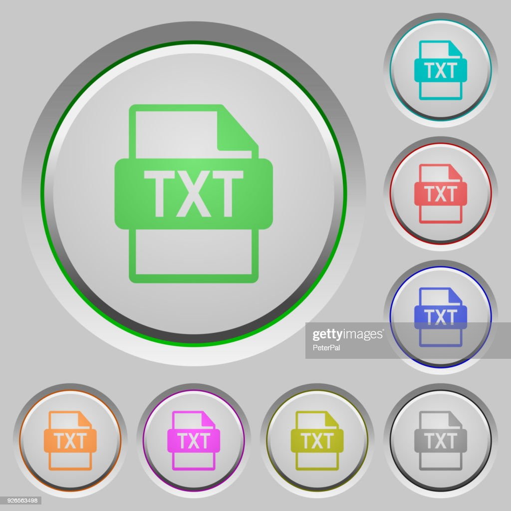 TXT file format push buttons