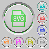 SVG file format push buttons