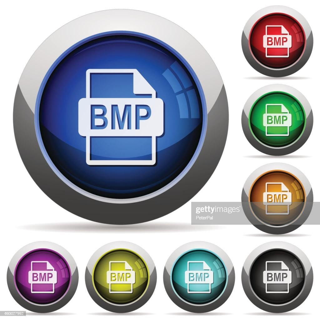 BMP file format round glossy buttons