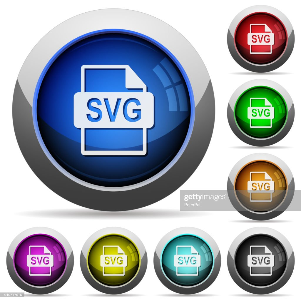 SVG file format round glossy buttons