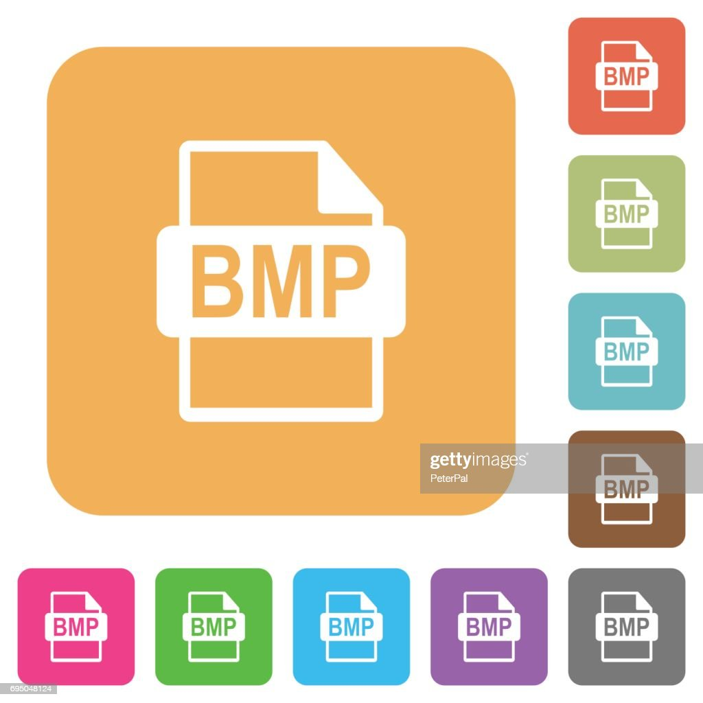 BMP file format rounded square flat icons