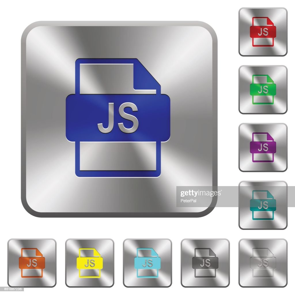 JS file format rounded square steel buttons