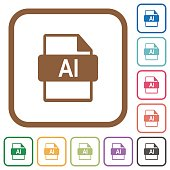 AI file format simple icons