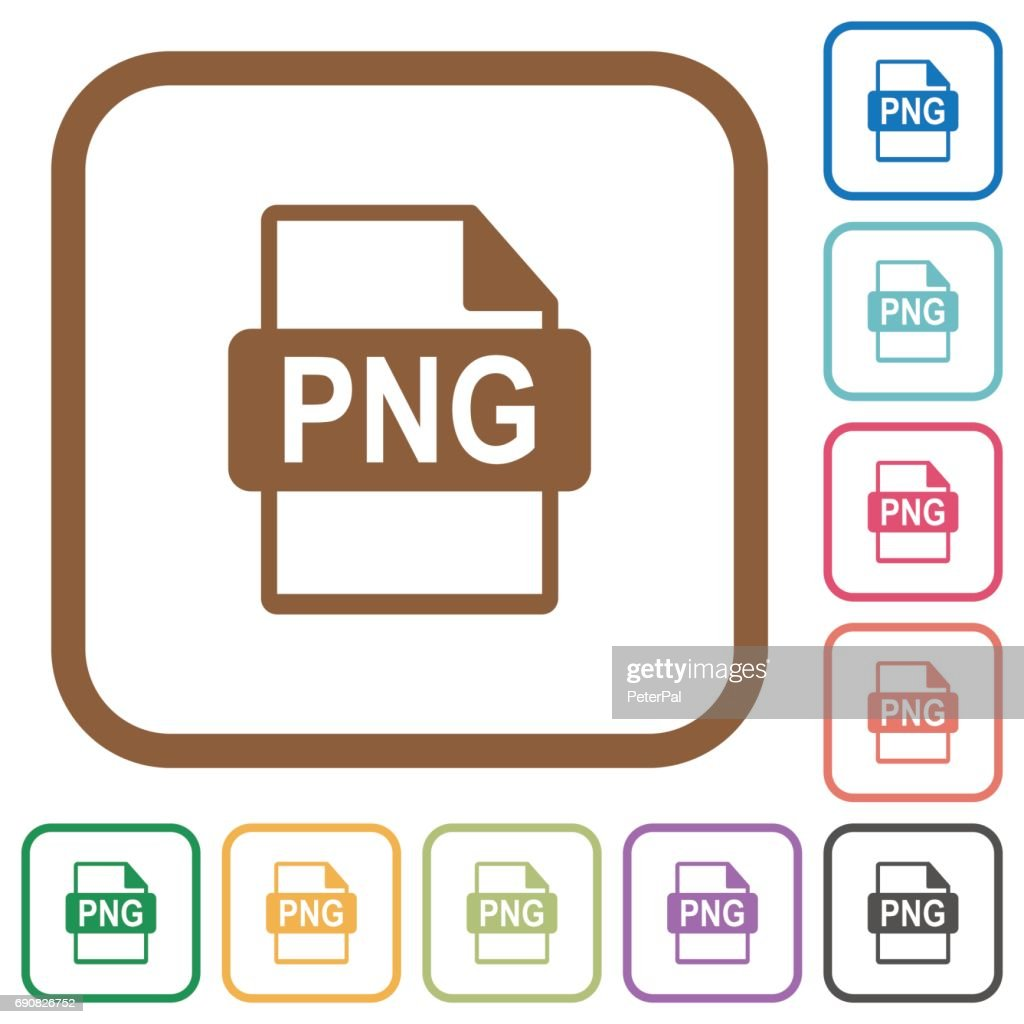 PNG file format simple icons