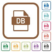 DB file format simple icons