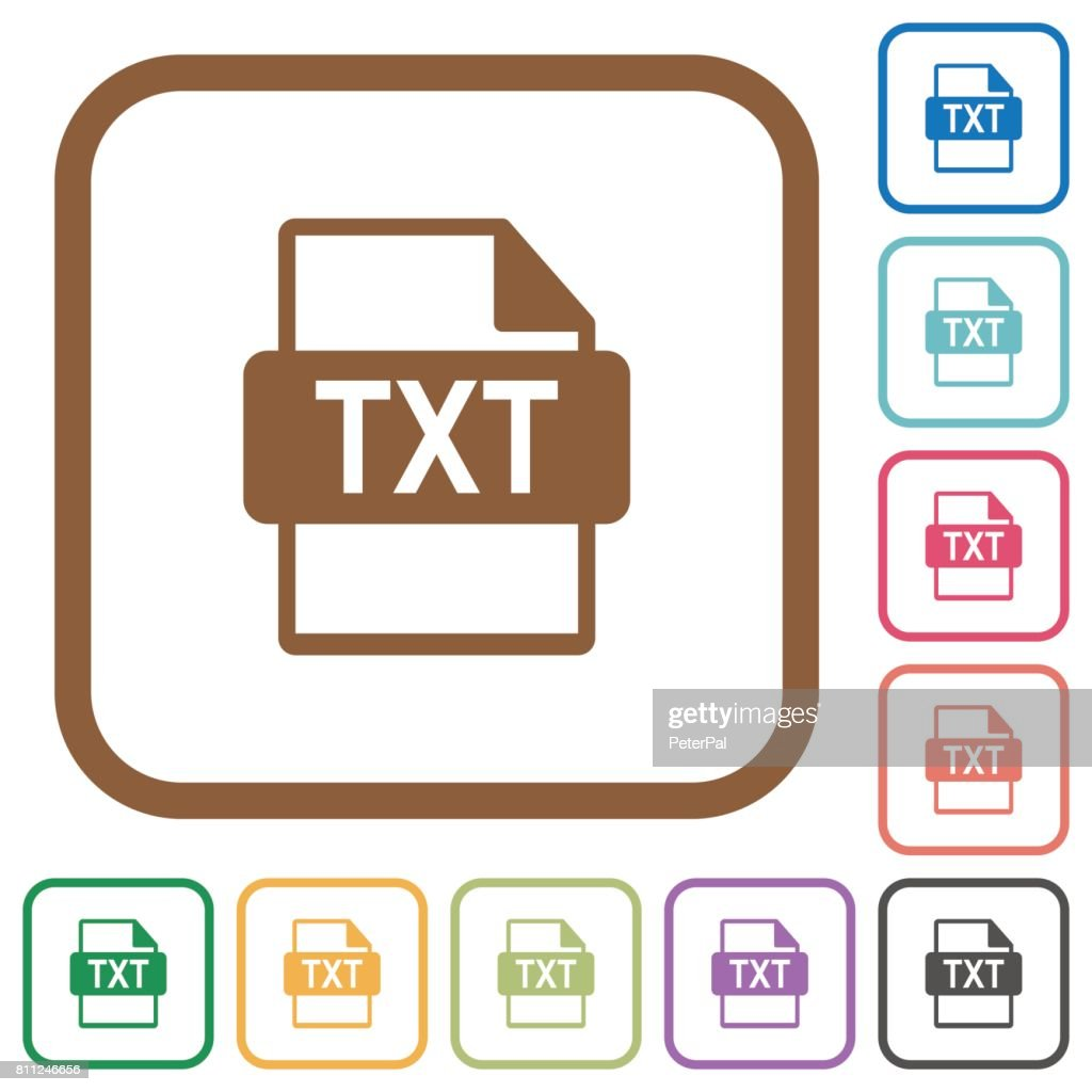 TXT file format simple icons