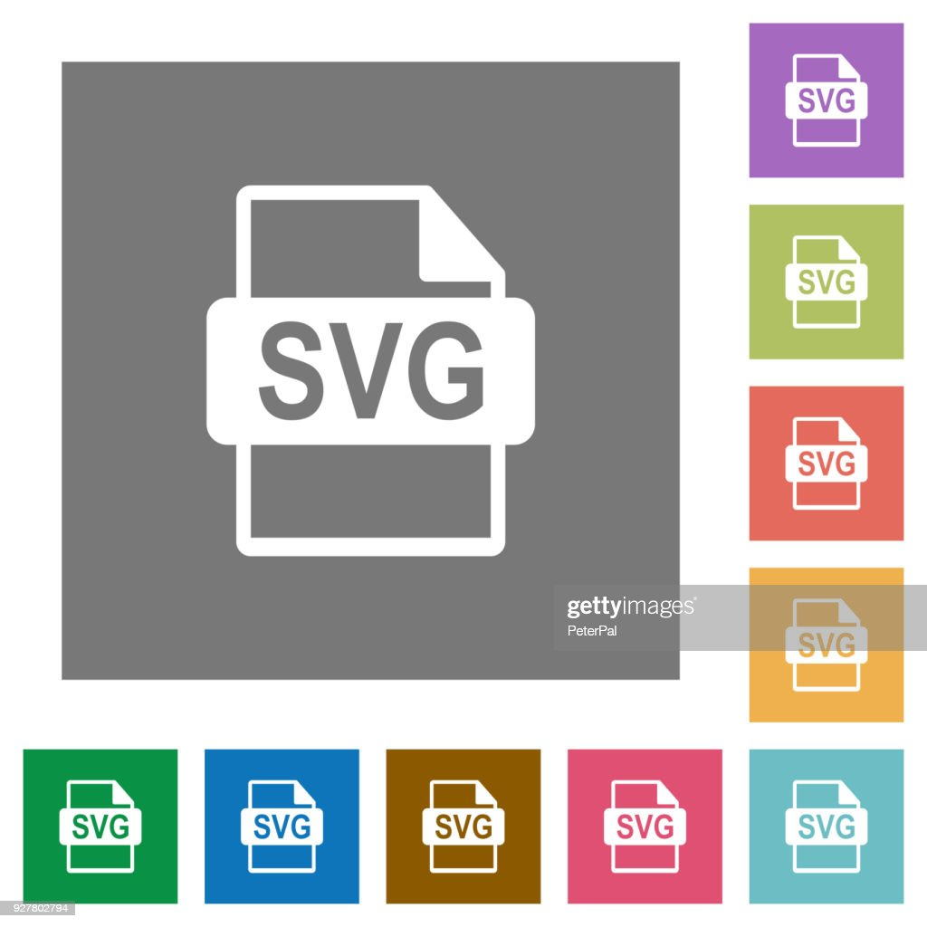 SVG file format square flat icons
