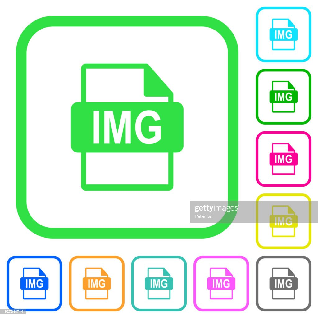 IMG file format vivid colored flat icons