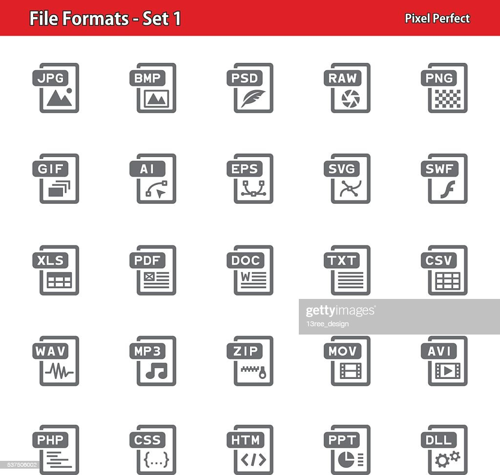 File Formats Icons - Set 1