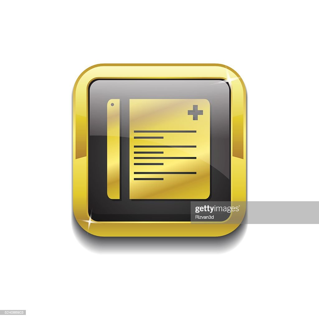 File Gold Vector Icon Button
