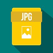 JPG file icon, flat style