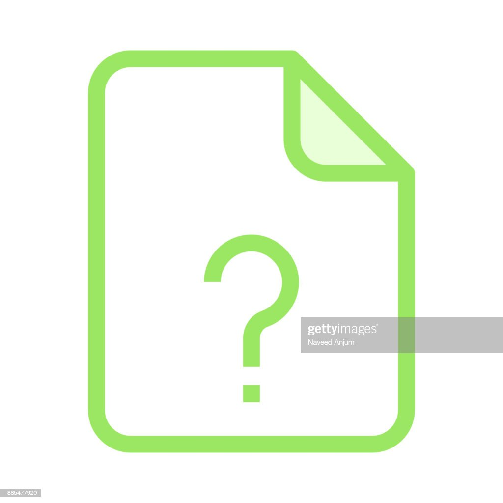 file question mark colour line vector icon