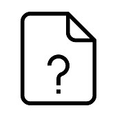 file question mark Thin Line Vector Icon