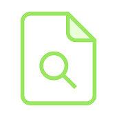 file search colour line icon