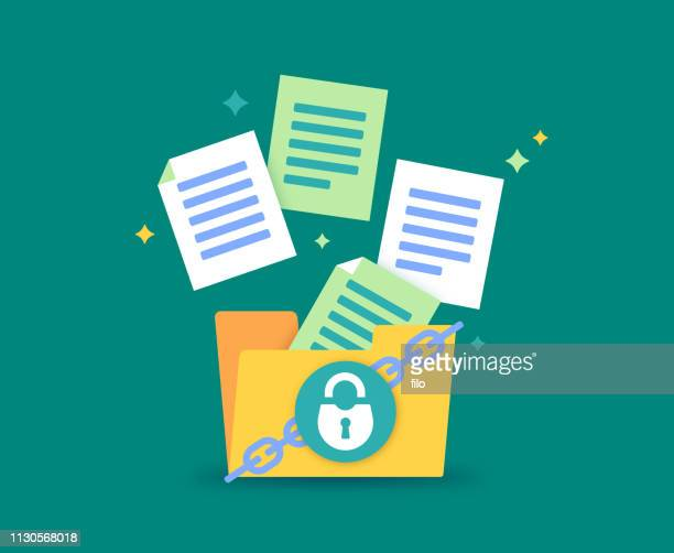 file security - paperwork stock illustrations