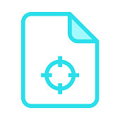 file target colour line vector icon