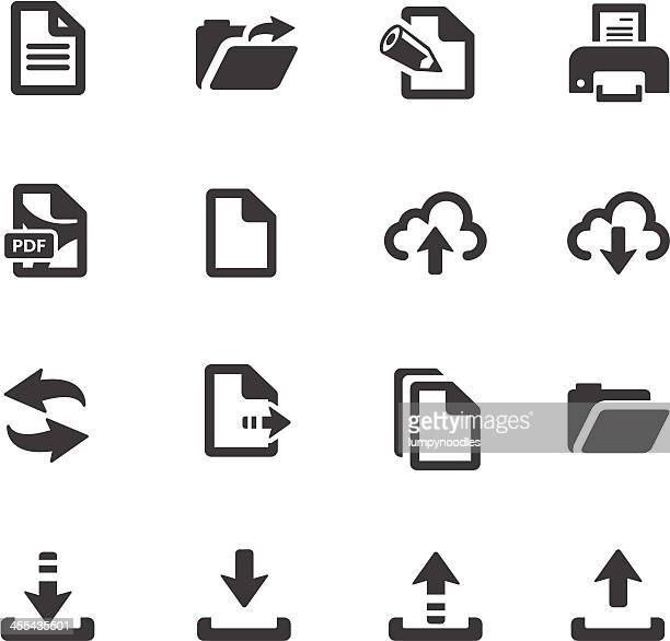 file transfer symbols - paperwork stock illustrations