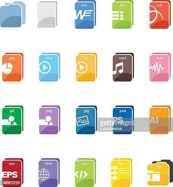 File type computer color harmony icons