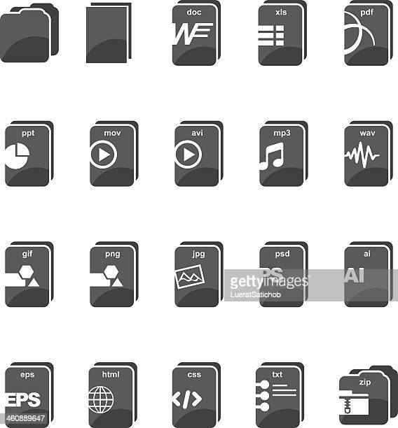 File type computer Silhouette icons