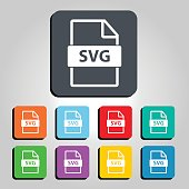SVG File Type Icon Vector Icon Illustration