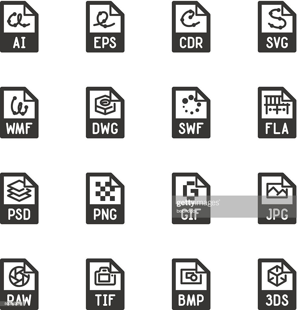 File type icons: Graphics – Bazza series