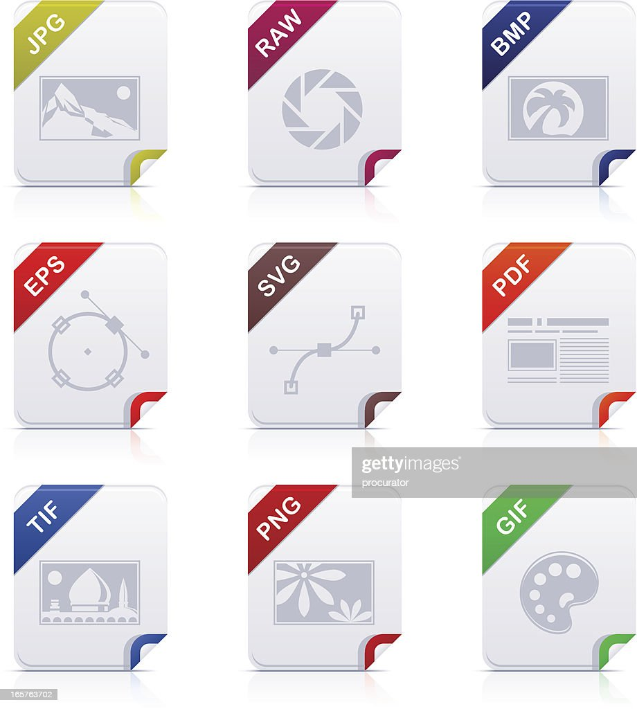File type icons: Graphics