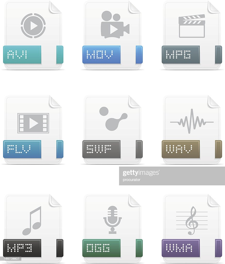 File type icons: Media pack
