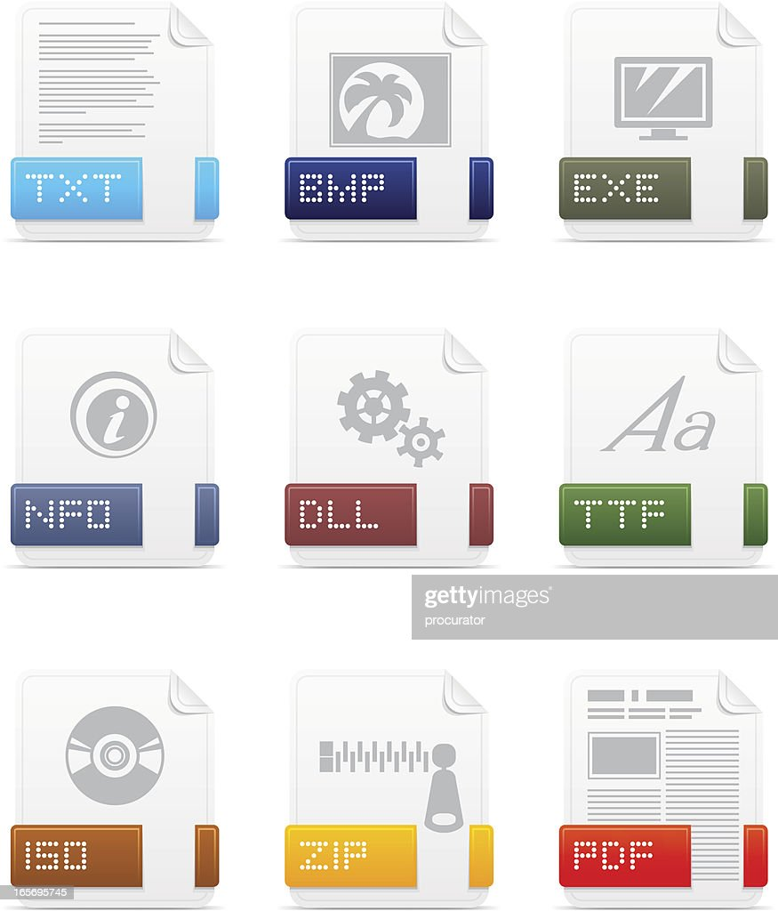 File type icons: System pack