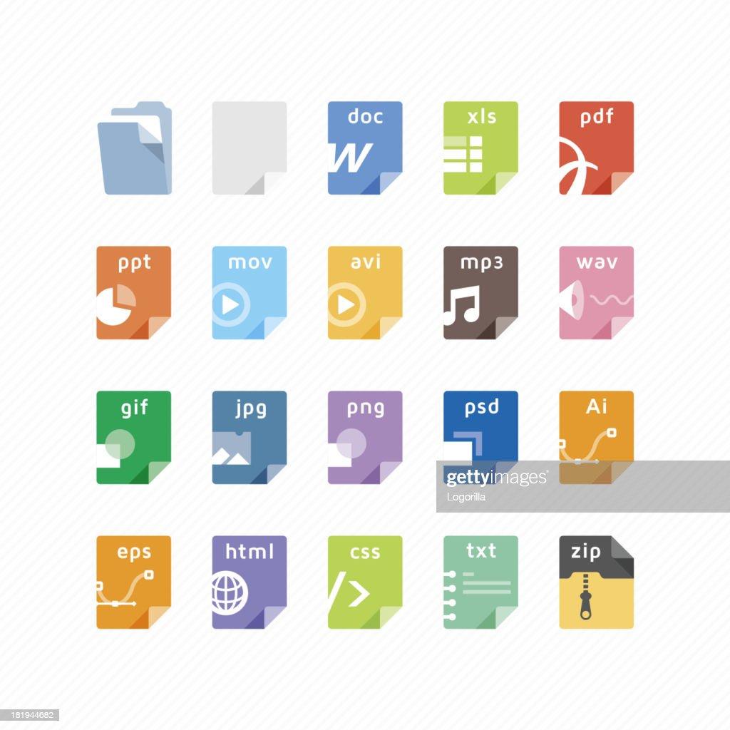 File type icons : stock illustration
