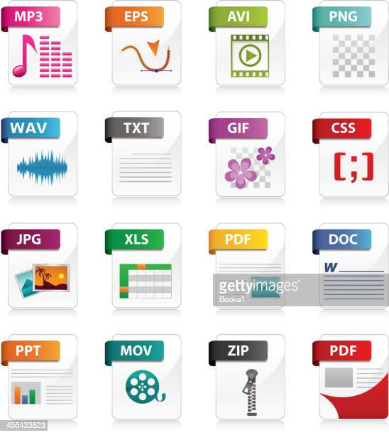 file type icons - file stock illustrations