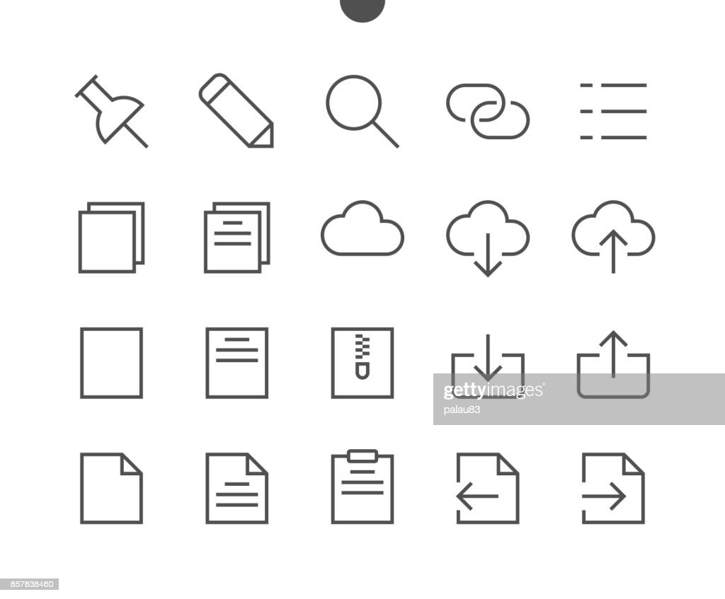 File UI Pixel Perfect Well-crafted Vector Thin Line Icons 48x48 Ready for 24x24 Grid for Web Graphics and Apps with Editable Stroke. Simple Minimal Pictogram